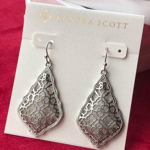 Kendra Scott Addie Drop Earrings Silver Filigree
